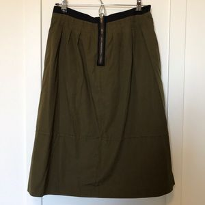 MADEWELL army green skirt